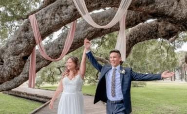 Wedding Chapel near Flagler Estates Florida couple