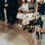 luxury wedding bouquet in bridesmaid hands