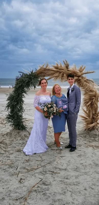 Wedding Chapel near Asbury Lake Florida couple