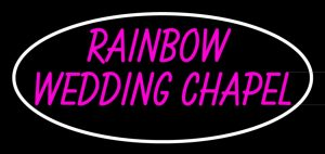 rainbow wedding chapel